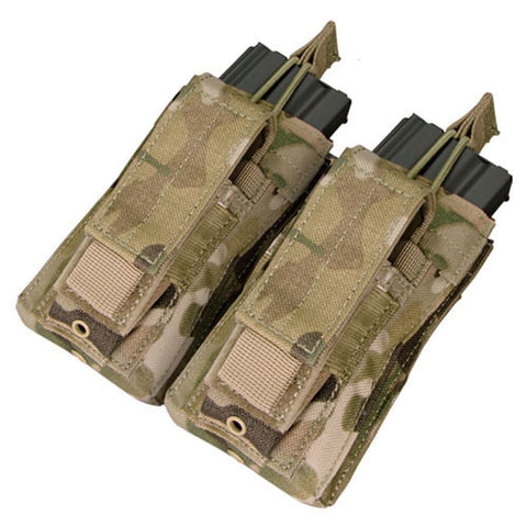 Double Kangaroo Magazine Pouch holds 2 M4/M16 Mag, Pistol Mag Color: Multicam