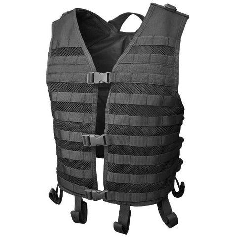 Mesh Hydration Tactical Vest Color: Black