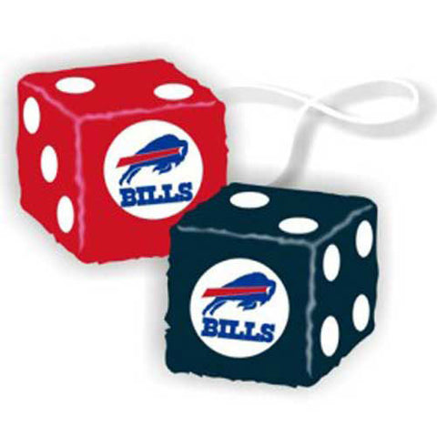 Buffalo Bills NFL 3 Car Fuzzy Dice