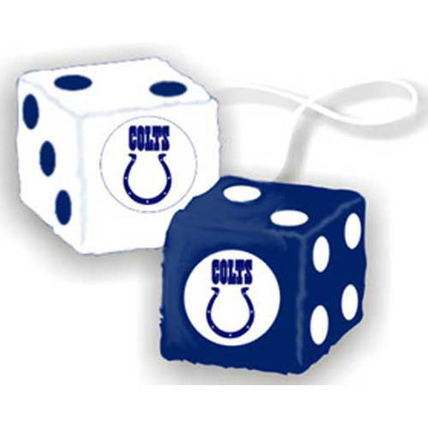 Indianapolis Colts NFL 3 Car Fuzzy Dice