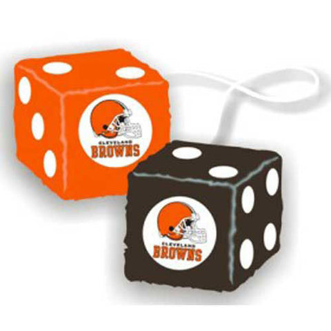 Cleveland Browns NFL 3 Car Fuzzy Dice
