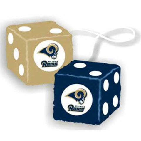 Los Angeles Rams NFL 3 Car Fuzzy Dice