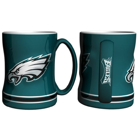 Philadelphia Eagles NFL Coffee Mug 15oz Sculpted Single