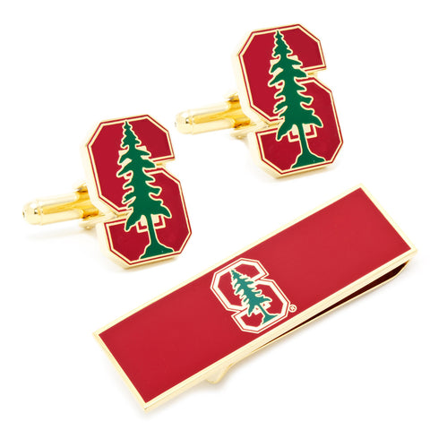 Stanford Cardinal NCAA Cufflinks and Money Clip Gift Set