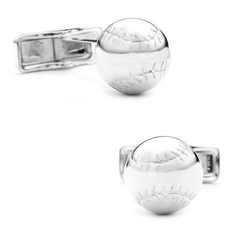 Baseball Ravi Ratan Collection Sterling Silver Executive Cufflinks w/ Jewelry Box