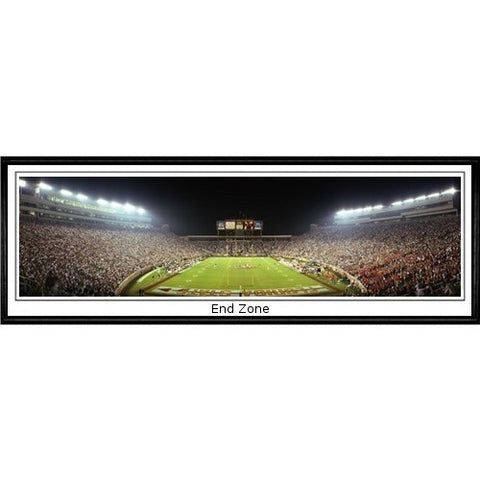 Florida State Seminoles End Zone 13.5 x39 Standard Black Frame