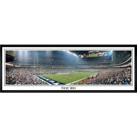 Houston Texans First Win 13.5 x39 Standard Black Frame