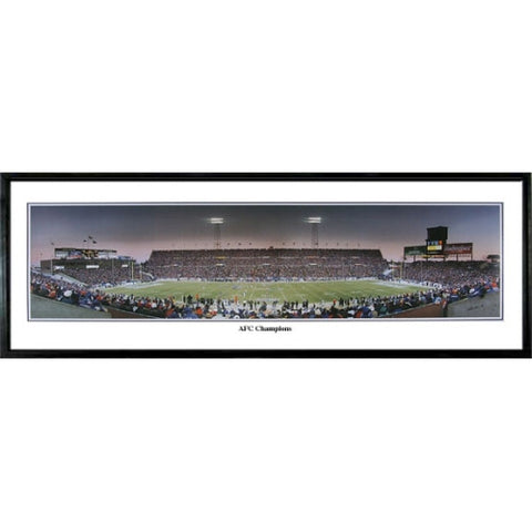 New England Patriots AFC Champions 13.5 x39 Standard Black Frame