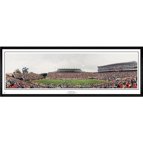 Mississippi Rebels 44 Yard Line 13.5 x39 Standard Black Frame