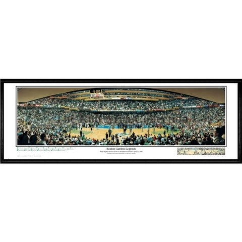 Boston Celtics Garden Legends With Call outs 13.5 x39 Standard Black Frame