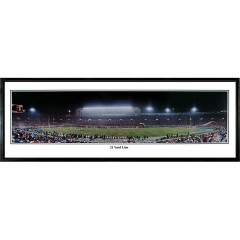 Chicago Bears 21 Yard Line 13.5 x39 Standard Black Frame