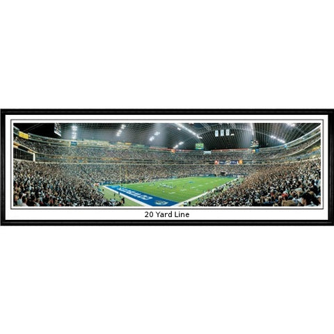 Dallas Cowboys 20 Yard Line 13.5 x39 Standard Black Frame