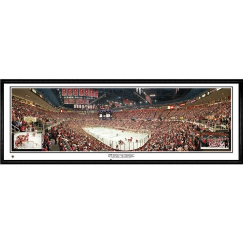 Detroit Red Wings 2008 Stanley Cup Champions 13.5 x39 Standard Black Frame