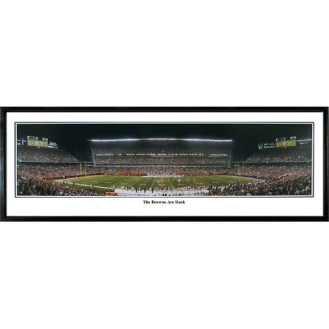 Cleveland Browns Are Back 13.5 x39 Standard Black Frame