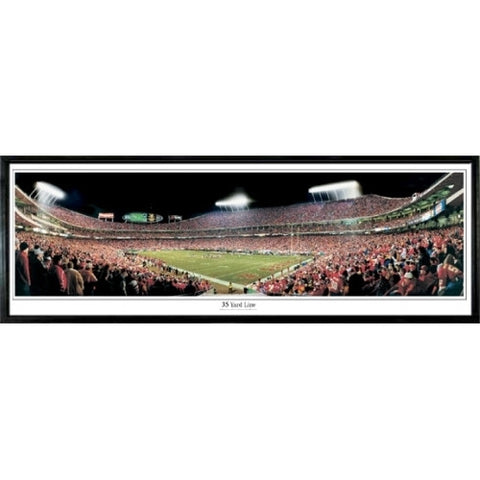 Kansas City Chiefs 35 Yard Line 13.5 x39 Standard Black Frame