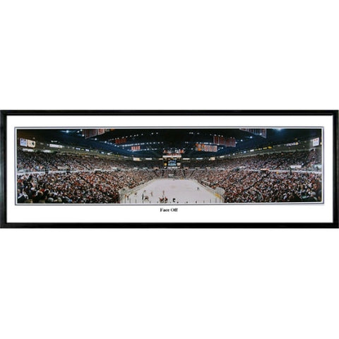 Detroit Red Wings Face Off 13.5 x39 Standard Black Frame
