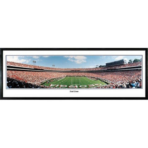 Georgia Bulldogs End Zone 13.5 x39 Standard Black Frame