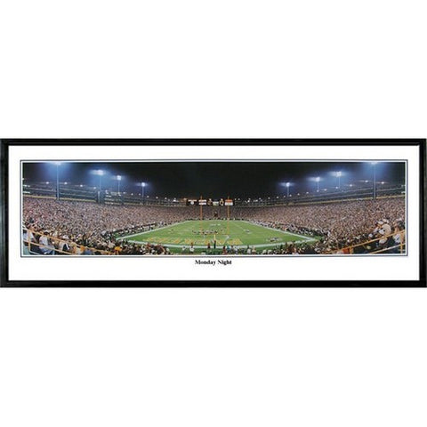 Green Bay Packers Monday Night 13.5 x39 Standard Black Frame