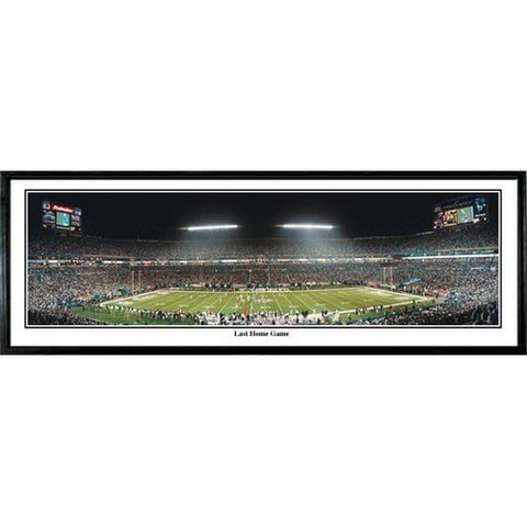 Miami Dolphins Last Home Game 13.5 x39 Standard Black Frame
