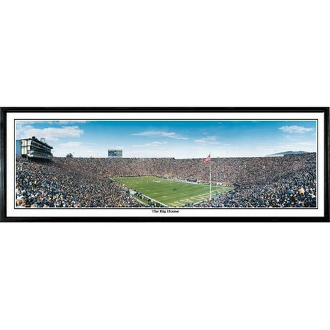 Michigan Wolverines Big House 13.5 x39 Standard Black Frame