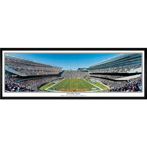 Chicago Bears First Day Game 13.5 x39 Standard Black Frame