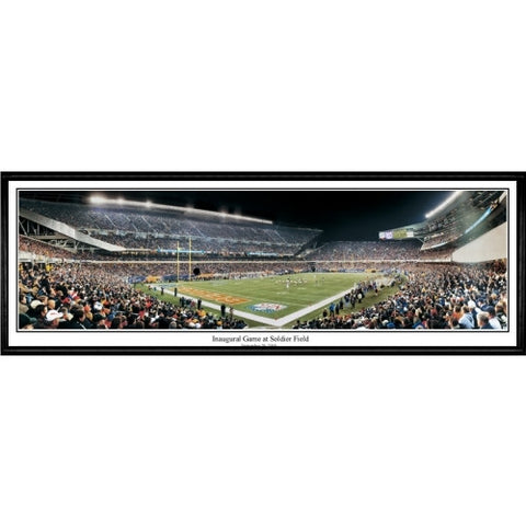 Chicago Bears Inaugural Game 13.5 x39 Standard Black Frame