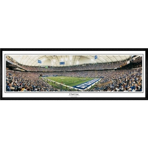 Indianapolis Colts 8 Yard Line 13.5 x39 Standard Black Frame