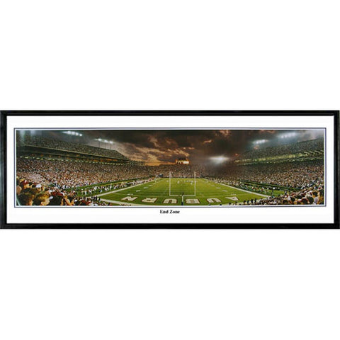 Auburn Tigers End Zone Jordan Hare Stadium Panoramic Standard Framed Photograph Cherry Frame