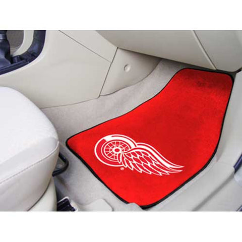 Detroit Red Wings NHL 2 Piece Printed Carpet Car Mats 18x27