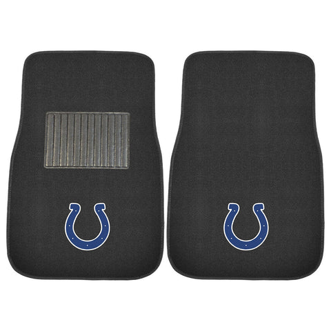 Indianapolis Colts NFL 2 pc Embroidered Car Mat Set