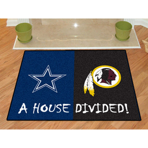 Dallas Cowboys/Washington Redskins NFL House Divided All Star Floor Mat 34 x45