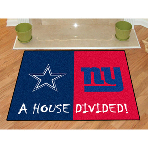 Dallas Cowboys/New York Giants NFL House Divided All Star Floor Mat 34 x45
