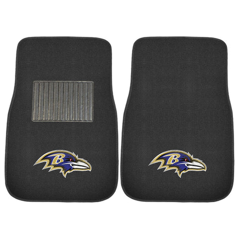 Baltimore Ravens NFL 2 pc Embroidered Car Mat Set