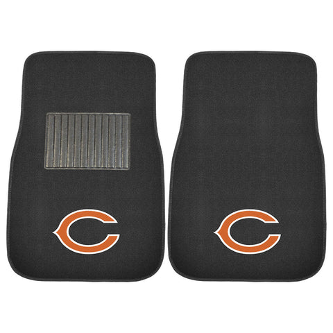 Chicago Bears NFL 2 pc Embroidered Car Mat Set