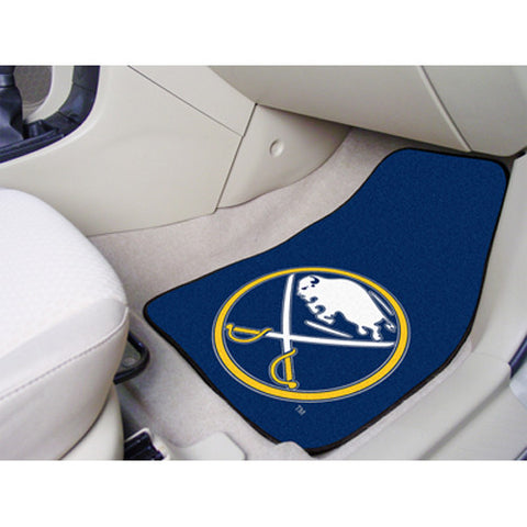 Buffalo Sabres NHL 2 Piece Printed Carpet Car Mats 18x27