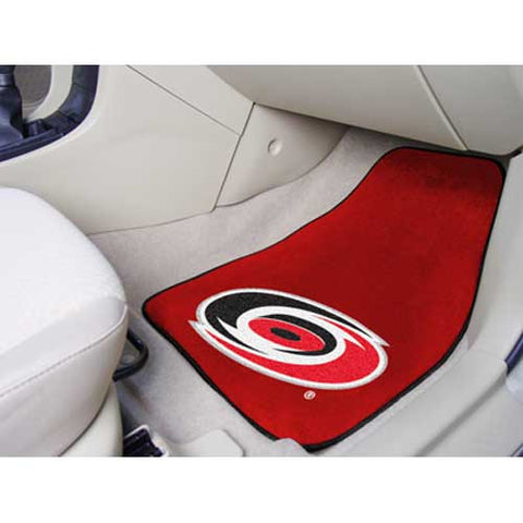 Carolina Hurricanes NHL 2 Piece Printed Carpet Car Mats 18x27