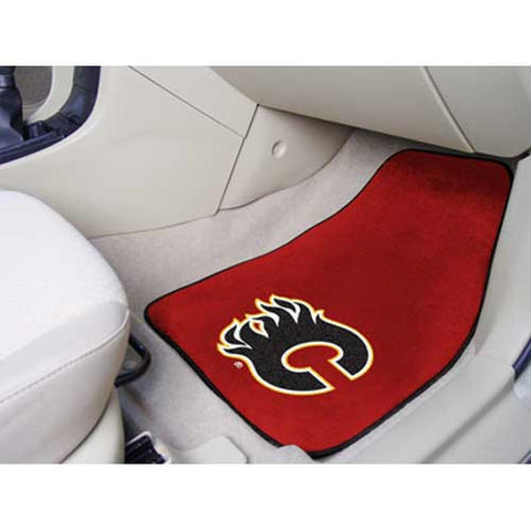 Calgary Flames NHL 2 Piece Printed Carpet Car Mats 18x27
