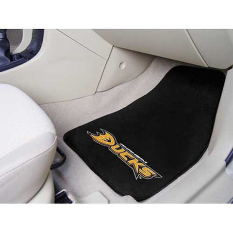 Anaheim Ducks NHL 2 Piece Printed Carpet Car Mats 18x27