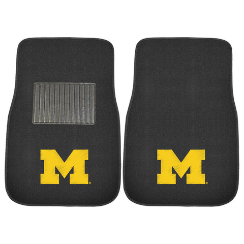 Michigan Wolverines NCAA 2 pc Embroidered Car Mat Set