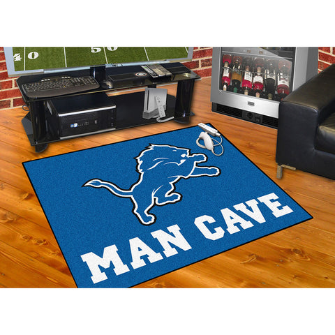 Detroit Lions NFL Man Cave All Star Floor Mat 34in x 45in