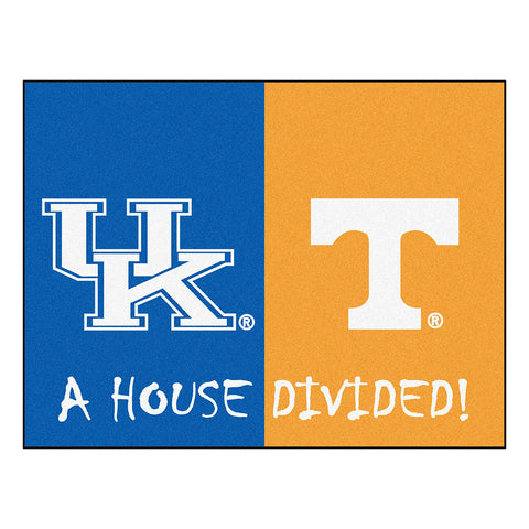 Kentucky Wildcats/Tennessee Volunteers NCAA House Divided All Star Floor Mat 34 x45