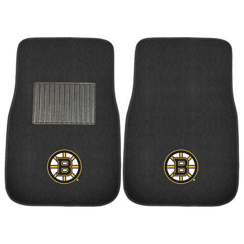 Boston Bruins NHL 2 pc Embroidered Car Mat Set