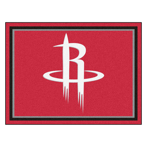 Houston Rockets NBA 8ft x10ft Area Rug