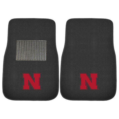 Nebraska Cornhuskers NCAA 2 pc Embroidered Car Mat Set