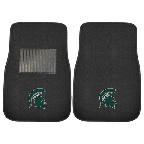 Michigan State Spartans NCAA 2 pc Embroidered Car Mat Set