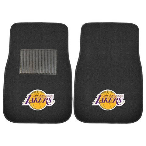Los Angeles Lakers NBA 2 pc Embroidered Car Mat Set