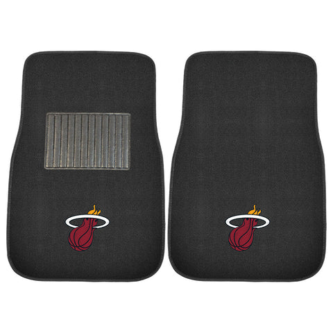 Miami Heat NBA 2 pc Embroidered Car Mat Set