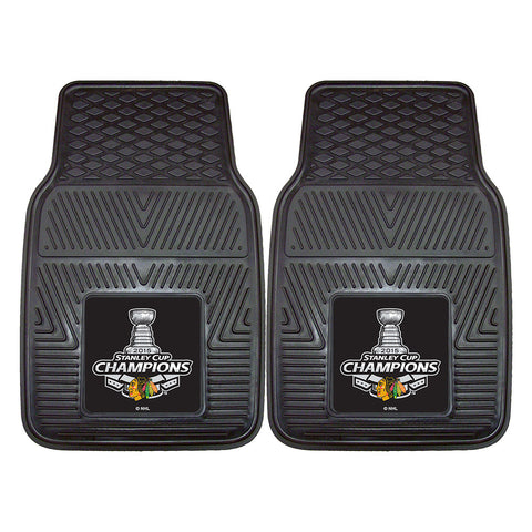 Chicago Blackhawks 2015 NHL Stanley Cup Champions Heavy Duty 2 Piece Vinyl Car Mats 18x27