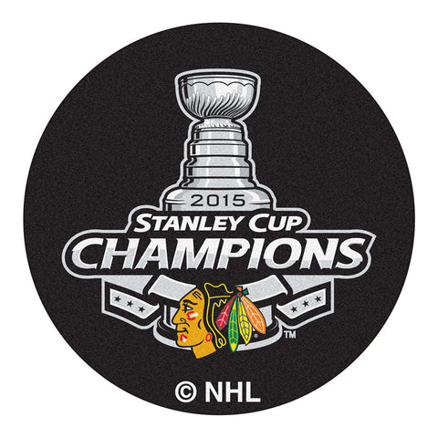 Chicago Blackhawks 2015 NHL Stanley Cup Champions Puck Mat 29 diameter