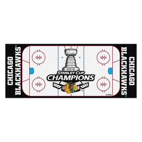 Chicago Blackhawks 2015 NHL Stanley Cup Champions Floor Runner 29.5x72